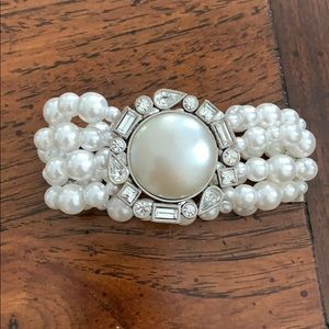 Pearl and CZ bracelet